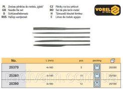 Набор надфиль надфілі l=4,0х160мм 5шт VOREL-25370