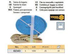 Ремень ремінь кріплення багажу тріщатка 1000daN 25мм х 4м VOREL-82343