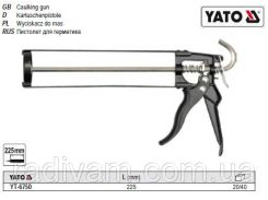 Пистолет пістолет скелетний для нанесення герметиків l= 225 мм YATO-6750