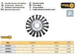 Щетка дисковая витая Ø 115 мм VOREL-06982