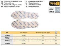 Стелька антибактериальная размер 43/44 h=3,2 мм VOREL-72685