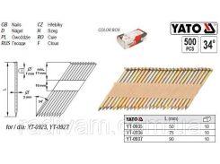 Гвозди для степлера l= 90х3,0 мм 34º 500 шт YATO-0937
