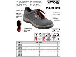 Туфли рабочие PARENA кожа полиуретан размер 40 YT-80573