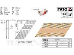 Гвозди для степлера l= 64х1,84 мм 34º 1000 шт YATO-0940