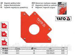 Магнитная магнітна струбцина зварки 102х155х17мм 22,5кг Ø=18 мм YATO-0864