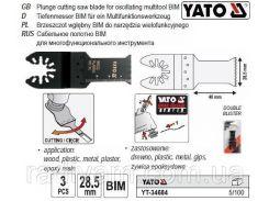 Набор пила насадка BIM для реноватора 40 х 28,5 3 штуки YATO-34684