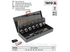 Набор метчик мітчик плашка М3-М12 32 шт YATO-2975