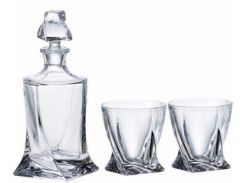 Набор для виски Bohemia Quadro 99999-99A44-886 (3 пр)