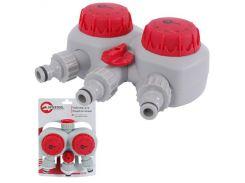 """Таймер для подачи воды с 2-х канальным распределением, 15;30;45;60;75;90;105;120мин, три выхода на конектор 1/2"""" автоматическое отключение воды INTERTOOL GE-2012"""