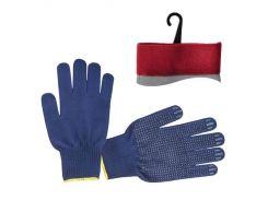 Перчатка трикотажная с точечным ПВХ покрытием INTERTOOL SP-0132