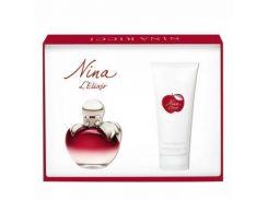 наборы для женщин Nina Ricci Nina L'Elixir Set (edp 50 ml+BL100ml)