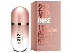 Парфюмированная вода для женщин Carolina Herrera 212 VIP Rose EDP (Каролина Эррера 212 Вип Роуз)  не оригинал 80 мл (Турция)