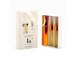Парфюмированная вода  Мини парфюм Yves Saint Laurent L'Homme EDP 3x15 ml. LUX