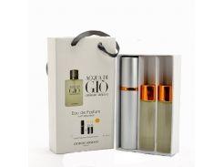 Парфюмированная вода  Мини парфюм Giorgio Armani Acqua di Gio men EDP 3x15 ml. LUX