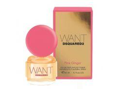 Парфюмированная вода для женщин DSquared2 Want Pink Ginger EDP  оригинал 50 мл
