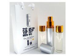 Парфюмированная вода  Мини парфюм CAROLINA HERRERA 212 VIP MEN EDP 3X15 ML. LUX