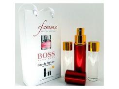 Парфюмированная вода  Мини парфюм HUGO BOSS femme 3X15 ML. LUX.
