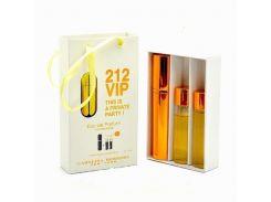 Парфюмированная вода  Мини парфюм Carolina Herrera 212 VIP EDP 3x15 ml. LUX