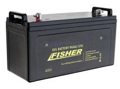 Гелевый аккумулятор для лодочного мотора Fisher 90Ah 12V, вес- 28кг