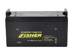 Гелевый аккумулятор для лодочного мотора Fisher 120Ah 12V, вес-34кг