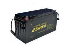 Гелевый аккумулятор для лодочного мотора Fisher 150Ah 12V, вес- 44кг