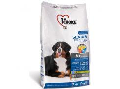 Сухой корм для пожилых собак средних и крупных пород 1st Choice со вкусом курицы 14 кг