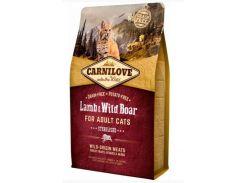 Сухой корм для взрослых стерилизованных кошек Carnilove Lamb & Wild Boar Sterilised 2 кг