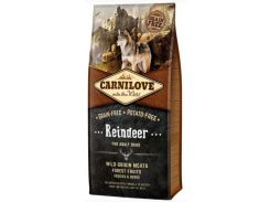 Сухой корм для взрослых собак Carnilove Raindeer  12 кг