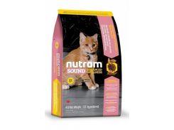 Сухой корм Nutram S1 Sound Balanced Wellness Kitten для котят со вкусом курицы и лосося  1.8 кг