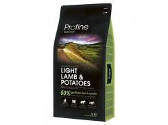Сухой гипоаллергенный корм для взрослых собак с избыточным весом Profine Light Lamb с ягненком и картофелем  15 кг