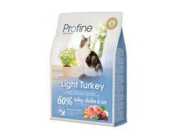 Сухой корм для котов с избыточным весом Profine Cat Light с индейкой, курицей и рисом  2 кг
