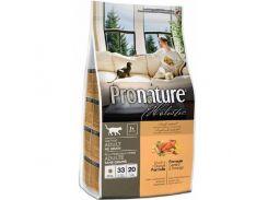 Сухой корм для взрослых котов Pronature Holistic Adult со вкусом утки и апельсинов  5.44 кг