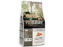 Сухой корм для взрослых котов Pronature Holistic Adult со вкусом индейки и клюквы 5.44 кг