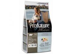 Сухой корм для взрослых котов Pronature Holistic Adult со вкусом атлантического лосося и коричневого риса 5.44 кг