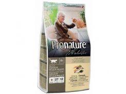 Сухой корм для пожилых котов Pronature Holistic Senior со вкусом океанической белой рыбы и дикого риса  2.7 кг