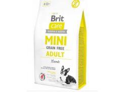 Сухой корм для взрослых собак миниатюрных пород Brit Care Mini Grain Free Adult  7 кг