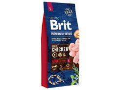Сухой корм для взрослых собак крупных пород Brit Premium Adult L  8 кг