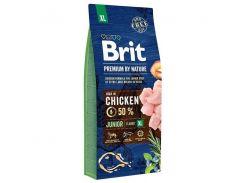 Сухой корм для щенков и молодых собак гигантских пород Brit Premium Junior XL  15 кг