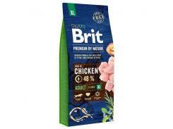 Сухой корм для взрослых собак гигантских пород Brit Premium Adult XL 15 кг