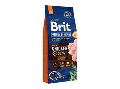 Сухой корм для активных собак с повышенной физической нагрузкой Brit Premium Sport  15 кг