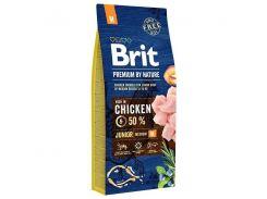 Сухой корм для щенков и молодых собак средних пород Brit Premium Junior M 15 кг