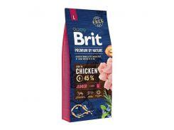 Сухой корм для щенков и молодых собак крупных пород Brit Premium Junior L  15 кг