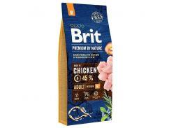 Сухой корм для взрослых собак средних пород Brit Premium Adult M  3 кг
