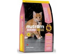 Сухой корм Nutram S1 Sound Balanced Wellness Kitten для котят со вкусом курицы и лосося  20 кг