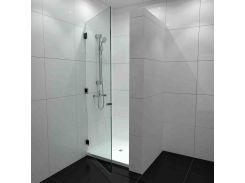 Душевая дверь БЦ-стол Рубелид с поддоном (90 x 200)