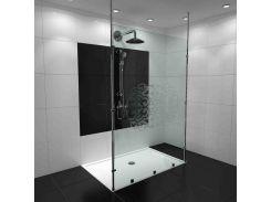 Душевая перегородка БЦ-стол Циркон с поддоном (150 x 230)