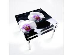 Стол БЦ-стол Квадратный с проходящей полкой Relax (900 x 900 x 750)