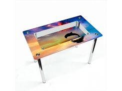 Стол БЦ-стол Прямоугольный с полкой Ocean (650 x 1100 x 750)