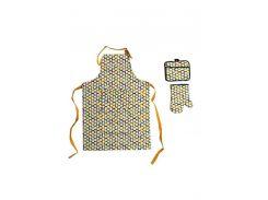 Набір д/кухні CHEF DELUX фартух+прихватка+рукавиця неопрен/бавовна RENKLI PETEK