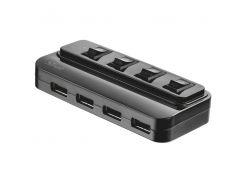 Концентратор Trust 4 port USB 2.0 Hub with Swithes